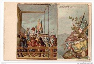 Patriotic Postcard Colonial Heroes #25 Lange Schwalbach Hessian Prisoners PMC