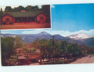 Unused Pre-1980 LODGE SCENE Colorado Springs Colorado CO J6795