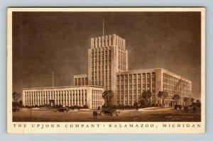 Kalamazoo MI-Michigan, The Upjohn Company, Linen Postcard