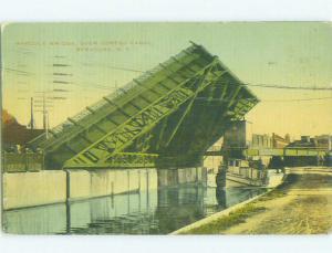 Divided-Back BRIDGE SCENE Syracuse New York NY HJ1539