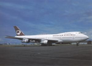 QUANTUM AIRLINES, Boeing 747-230B, unused Postcard