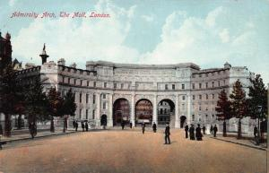 Admiralty Arch, The Mall, London, England, Early Postcard, Unused