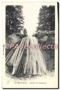 Old Postcard Le Mont Dore Cascade From Rossignolet