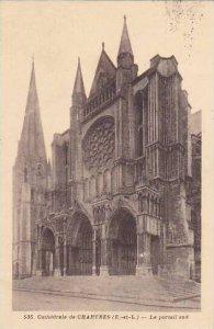 France Chartres La Cathedrale Le portail sud 1936