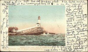 Isles of Shoals NH White Island Lighthouse Detroit Publishing Private Mailing