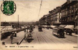 CPA ROUEN Le Quai de PARIS (416237)
