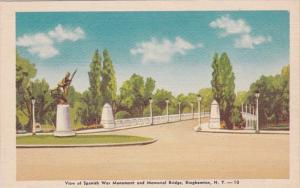 New York Binghamton Spanish War Monument and Memorial Bridge Dexter Press