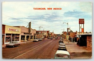 Tucumcari New Mexico~Downtown Main Street~Rasco 5&10c~Citizen's Bank Clock~1970