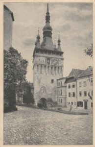 ROMANIA, 1910-30s; SchaBburg, Stundenturm / Watch Tower