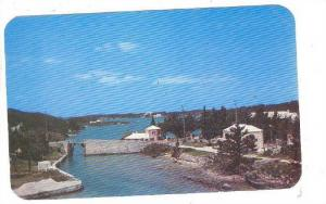 The smallest drawbridge in the world, somerset Bridge joins Sandy's Island, H...