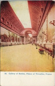 Gallery of Battles Palace of Versailles France Unused Postcard F61