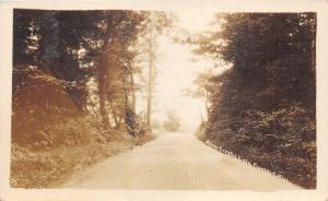 Frankfort Michigan~Path Along Crystal Lake~1930s RPPC Postcard