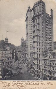 Park Row Showing Post Office New York City 1907