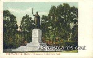McKinley Monument, Golden Gate Park