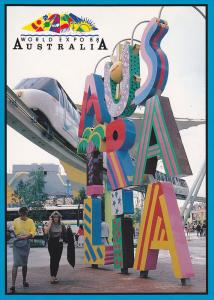 Sculptures outside the Australian Pavilion at Worlkd Expo 88.,   Australia,  ...
