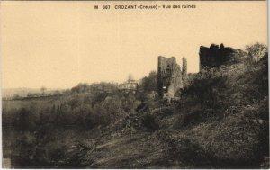 CPA CROZANT - Vue des ruines (121794)