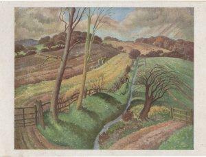Spooky Devon Fields Ethelberg White Painting Postcard