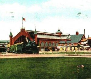 Du Sud Pacific Railway Dépôt Sacramento California Ca Unp 1910s Vtg Postale