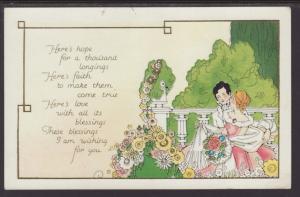 Here's Hope...,Man,Woman,Romance Postcard
