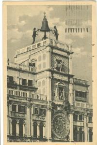 Italy, Venice, Venezia, Torre d'Orologio, 1924 used Postcard