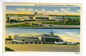 Terminal, Washington National Airport, Washington, DC, unused Curteich PPC