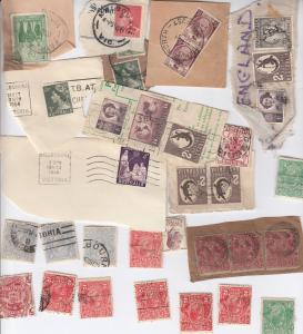 70 x Australia Antique Stamp Collection WW1 Ship Room Tahmoor NSW Bundle