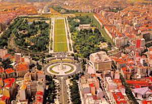Portugal Lisboa Park Eduard VII and Liberty Avenue Aerial view