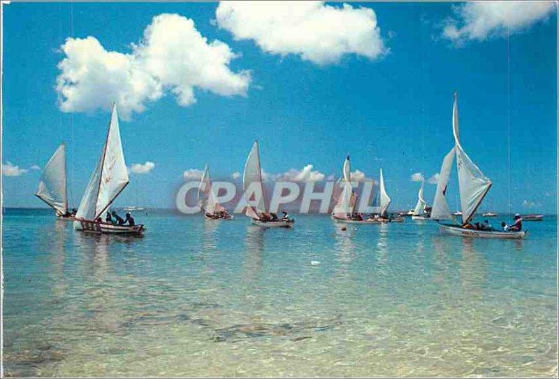 Modern Postcard Images of West Indies Regatta Boat Fishing Boat