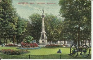 Lawrence, Mass., Soldiers' Monument   '1909'