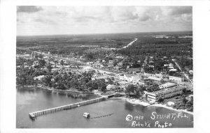 Stuart Florida Aerial View Real Photo Vintage Postcard AA14486