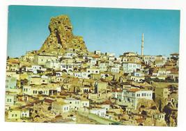 Turkey Ortahisar Village Giant Fairy Chimney Rock Formation Vtg Postcard 4X6