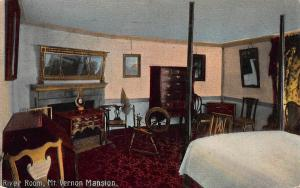 River Room, Mt. Vernon Mansion, Virginia, Early Postcard, Used in 1914