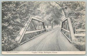 Burlingame Kansas~Vaughn's Bridge~Hunt's Views~Artist Conception~c1910 B&W