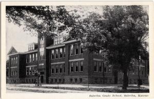 Old SABETHA Kansas Kans Ks Postcard SABETHA GRADE SCHOOL K257