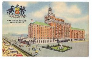Shelburne Hotel Atlantic City NJ 1935 Curteich Linen Postcar