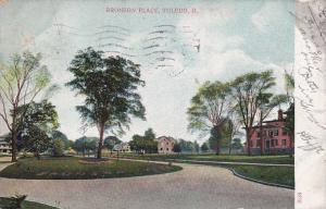 The Bronson Place - Toledo, Ohio - pm 1907 - UDB