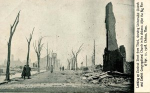 MA - Chelsea. April 12, 1908 Fire Ruins, Chestnut St. up from 3rd