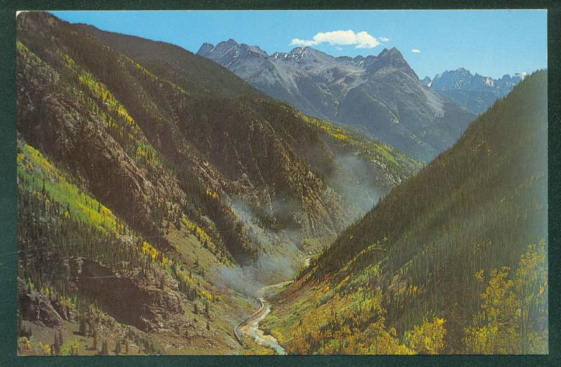 Silverton Narrow Gauge NEEDLE MOUNTAIN Canyon Lost Souls CO Railroad Postcard