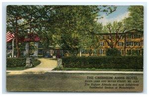 Postcard The Cresheim Arms Hotel Mt Airy Philadelphia PA linen G18