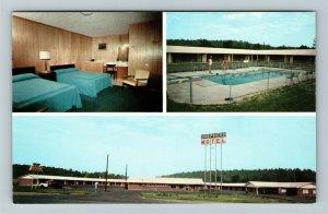 Calhoun GA- Georgia, Shepherd Hotel and Restaurant, Vintage Chrome Postcard