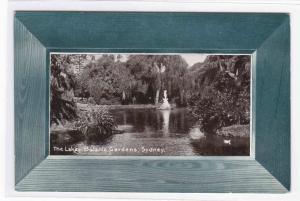 Lake Botanic Gardens Sydney Australia 1910c postcard