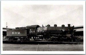 Vintage N. DE M. Mexico RAILROAD Train RPPC Real Photo Postcard Locomotive #2532