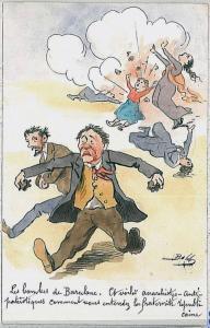 POSTCARD postal España SPAIN: POLITICS humour POLITICA satirica: BOBB - 1908