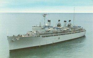 Postcard USS Ajax AR-6