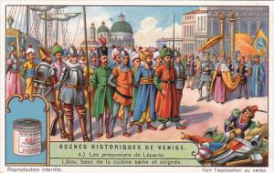 Liebig Trade Card s1254 Scenes From Venetian History No 4 Les prisonniers de ...