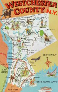 Westchester County Map Postcard