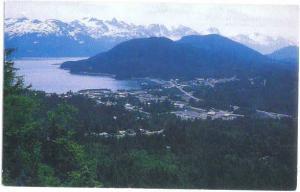 Mountain Side View of Haines Alaska AK