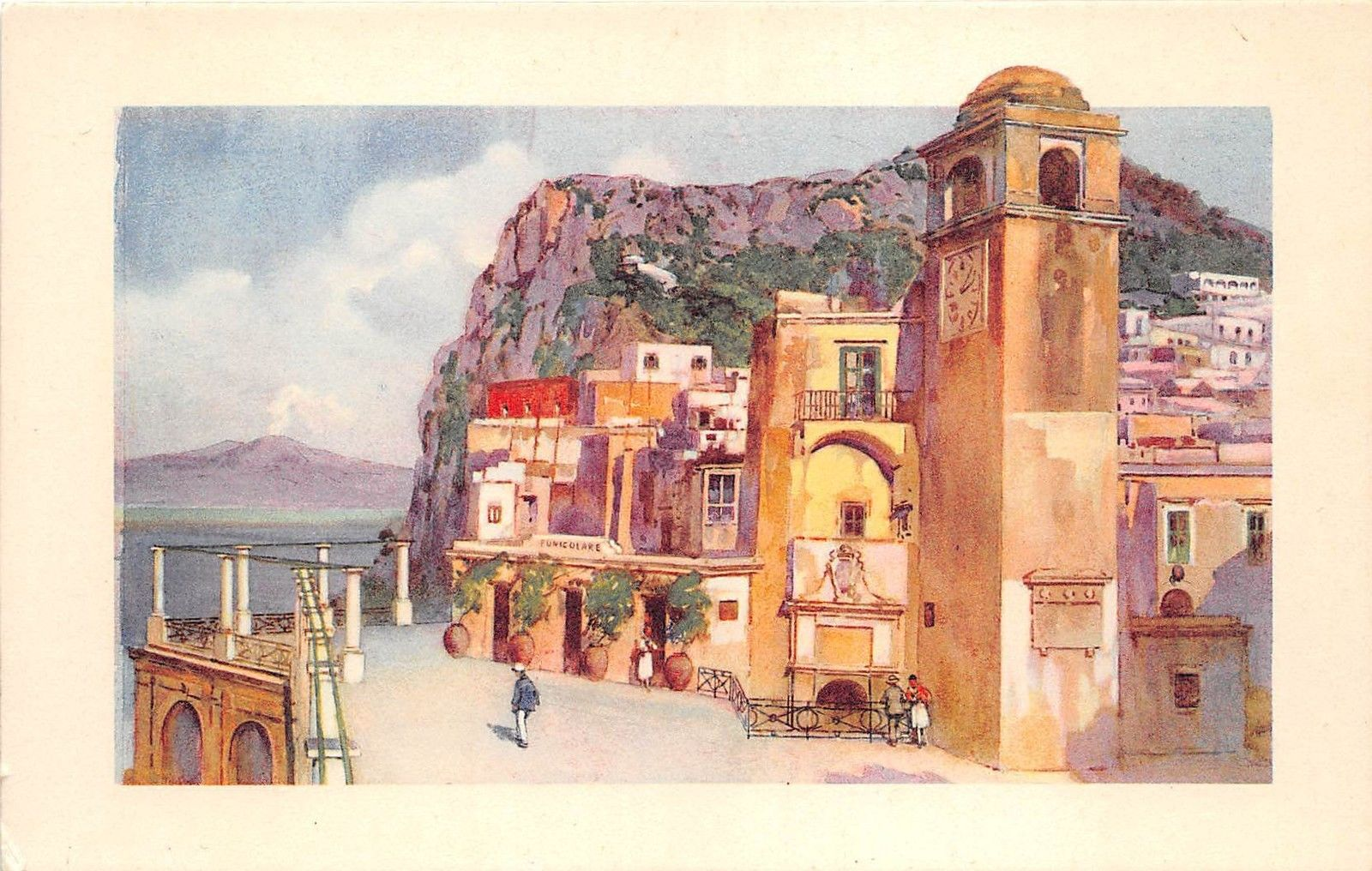 B39625 Capri Il Vesuvio Dalla Terrazza Della Funicolare