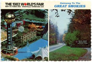TN - Knoxville, 1982. The 1982 World's Fair, Sunsphere and Entrance to Great ...