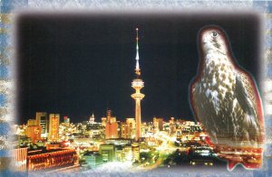 Kuwait multi view night city tower eagle panoramic Postcard